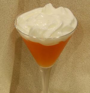 Gin & Blood Orange Tonic with Cucumber Cardamon Foam